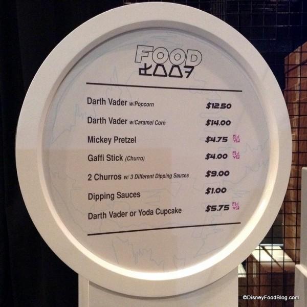 Ackbar Snack Bar menu