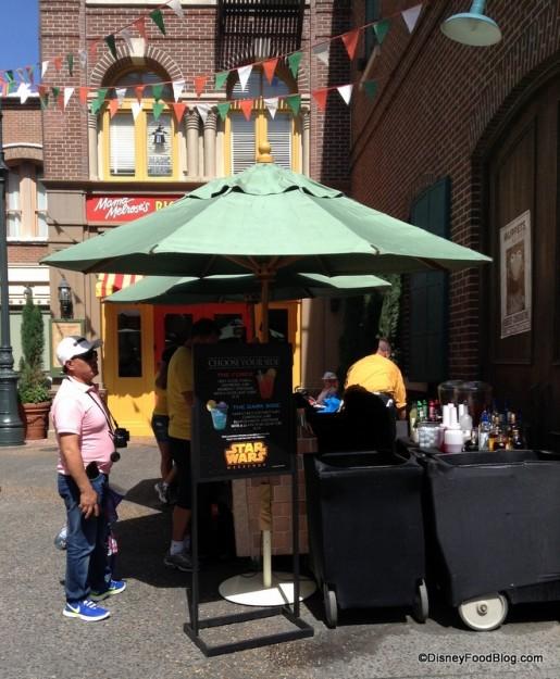 Mini Bar outside of Mama Melrose's