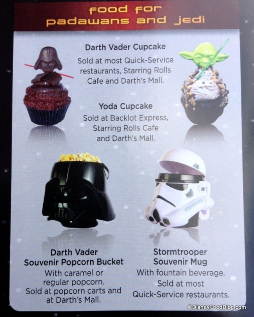 Star Wars Weekends snacks and locations