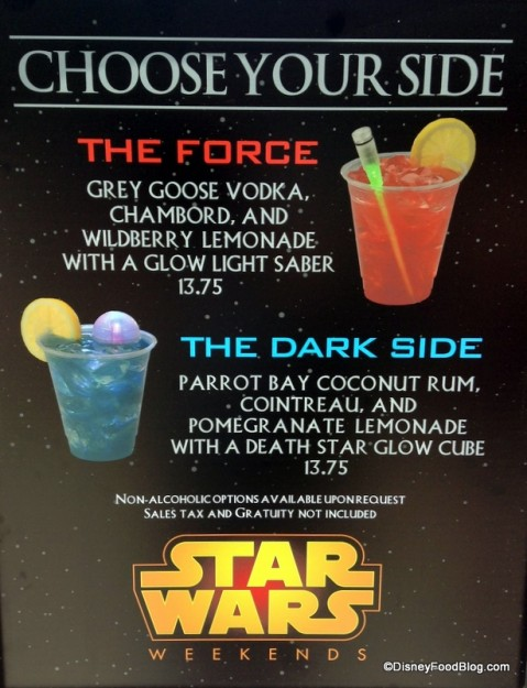 Star Wars Weekends Specialty Beverages