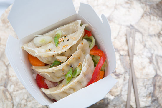 Steamed Chicken and Veggie Dumpling Bowl