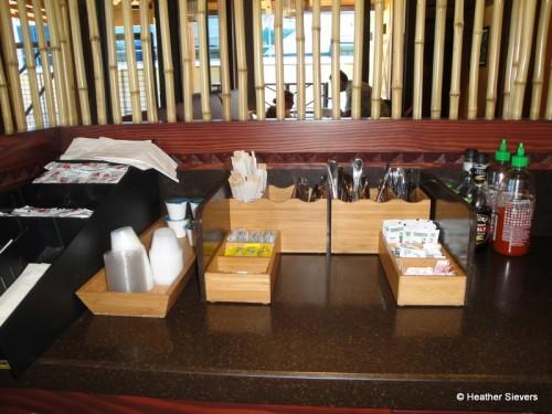 Condiments, Napkins, and Silverware