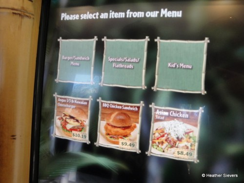 An Example of a Kiosk Ordering Screen