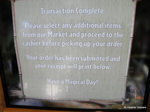 """Transaction Complete"" Screen on Kiosk"