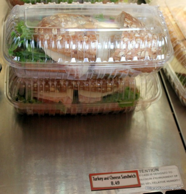 Turkey and Cheese Grab and Go Sandwich