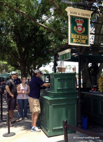 UK Rose and Crown Beer Stand
