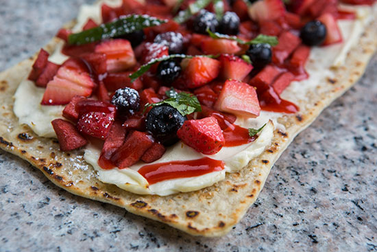 Apple Berry Flatbread