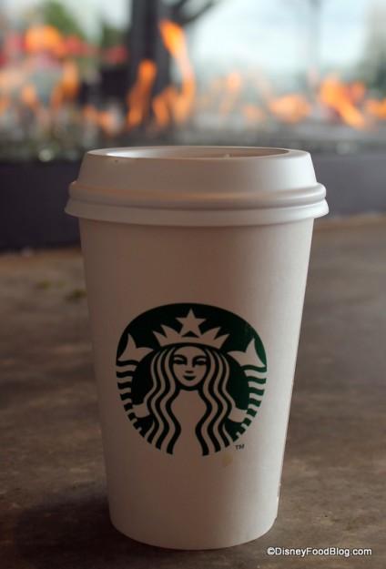 Coffee on fire!