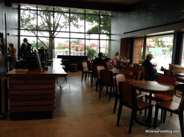 Reserve Coffee Counter on the left
