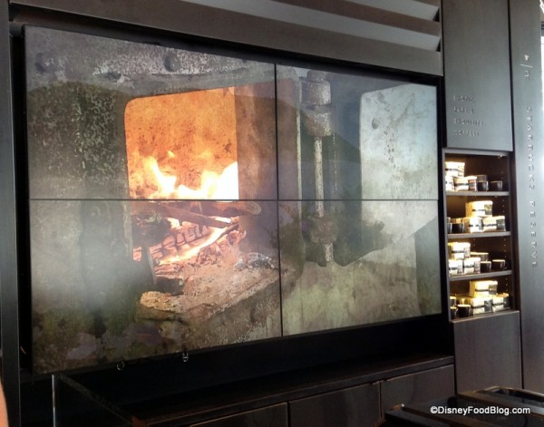 Changing screen showing progess of the coffee bean