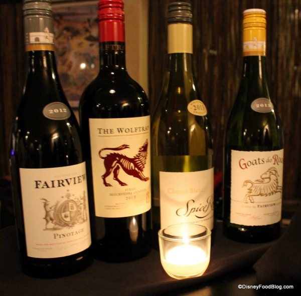 Selection of wine
