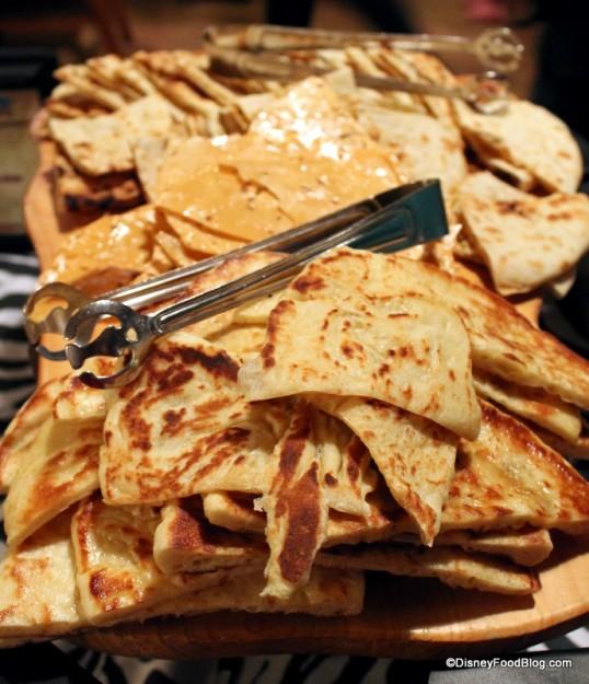 Naan, Onion Kulcha and Pappadum breads