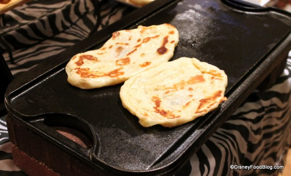 Naan being prepared