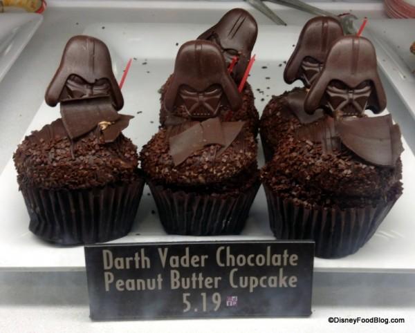 Darth Vader Chocolate Peanut Butter Cupcake