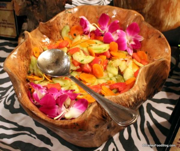 Kachumbari Salad with Tomato, Paneer, Carrot, and Cilantro
