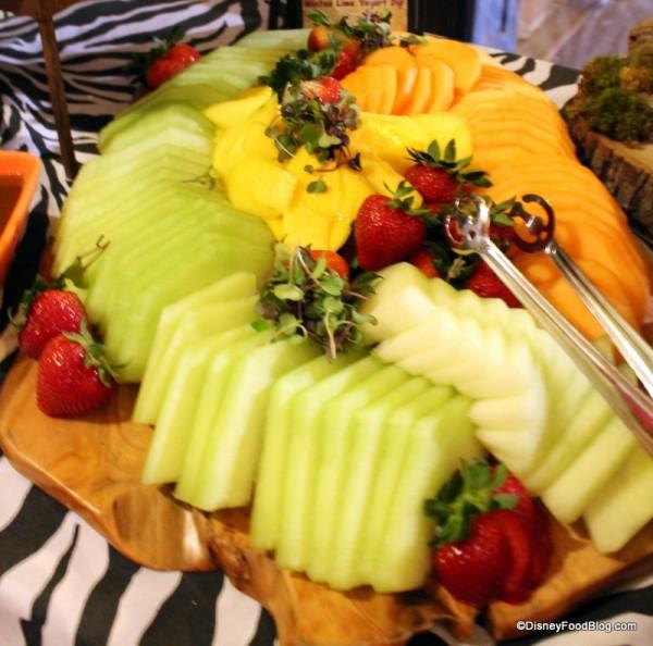 Ripe Melon with Minted Lime Yogurt Dip