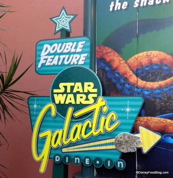 Star Wars Galactic Dine In sign