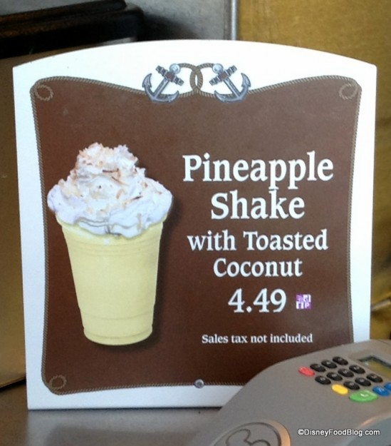 Pineapple Shake with Toasted Coconut