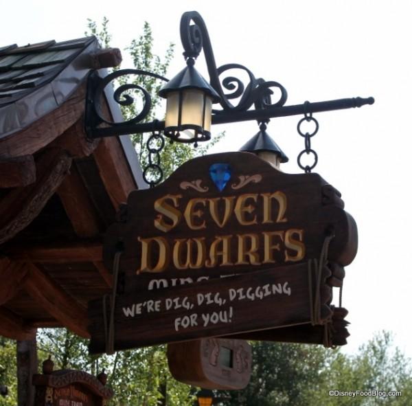 Seven Dwarfs Mine Train Sign