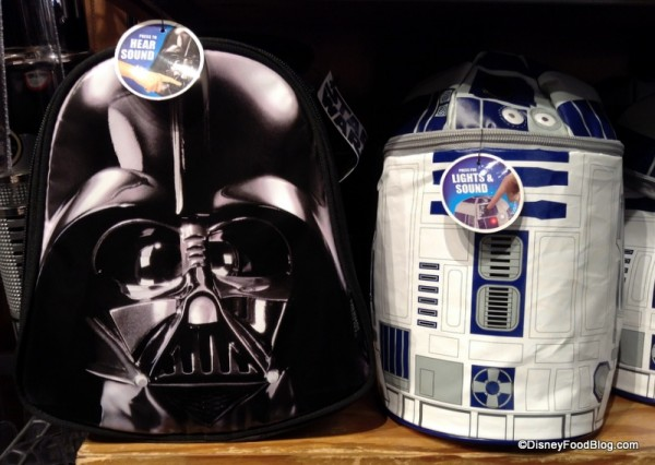 Darth Vader and R2-D2 lunch bags
