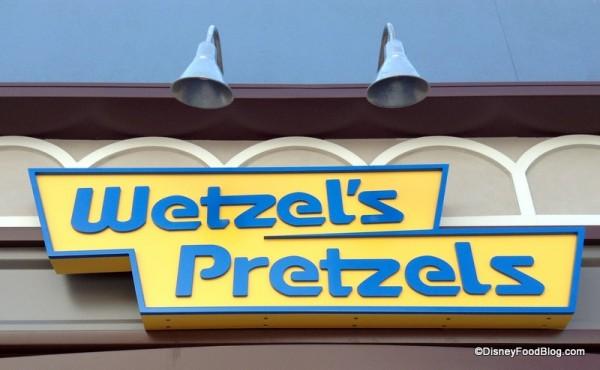 Wetzel's Pretzels sign