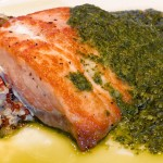 Epcot Food and Wine Festival Recipe: Grilled Verlasso Salmon with Quinoa Salad and Arugula Chimichurri