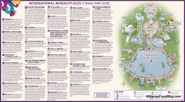 2014 Food and Wine Festival Guide Map