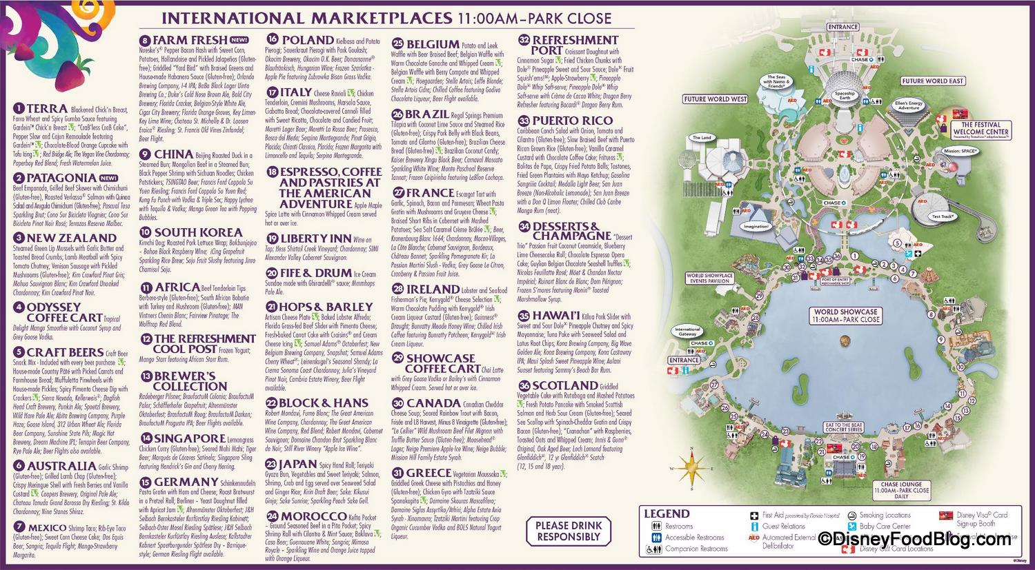 And Food Wine Map 2017 Epcot Festival 4
