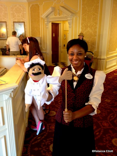 A Cast Member Entertains Eager Diners