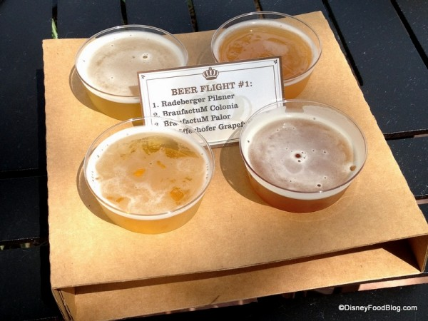 Beer Flight 1 at Brewer's Collection