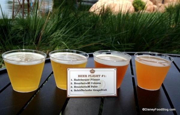 Beer Flight 1 Up Close