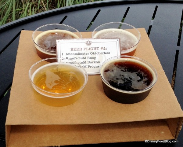 Beer Flight 2 at Brewer's Collection