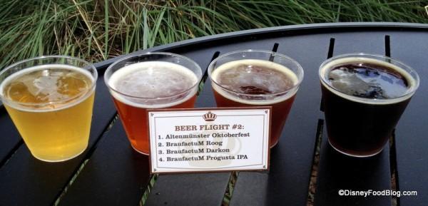 Beer Flight 2 Up Close