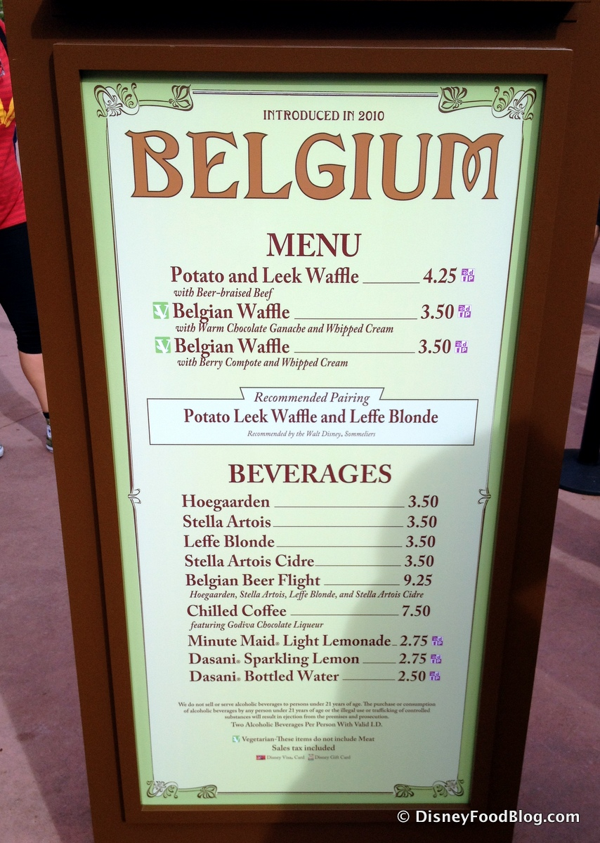 Belgium 2014 Epcot Food And Wine Festival