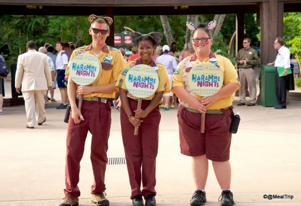 Cast Members Welcoming Guests to Harambe Nights