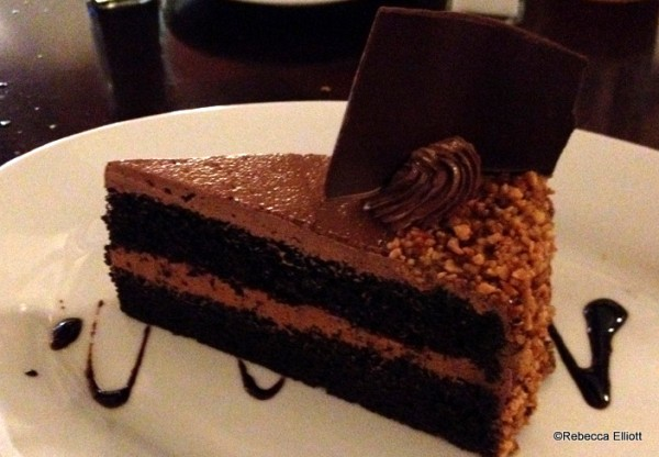 Chocolate Cake Layered with Hazelnut Filling