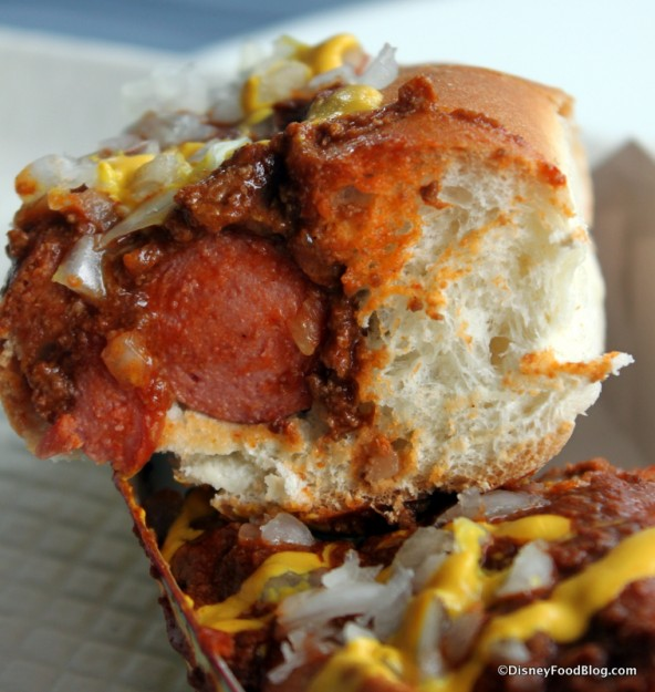 Coney Island Hot Dog --Cross Section