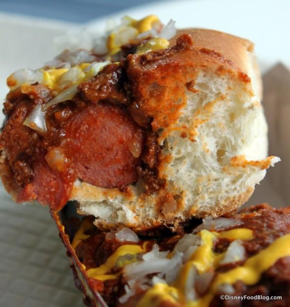 Coney Island Hot Dog --Cross Section
