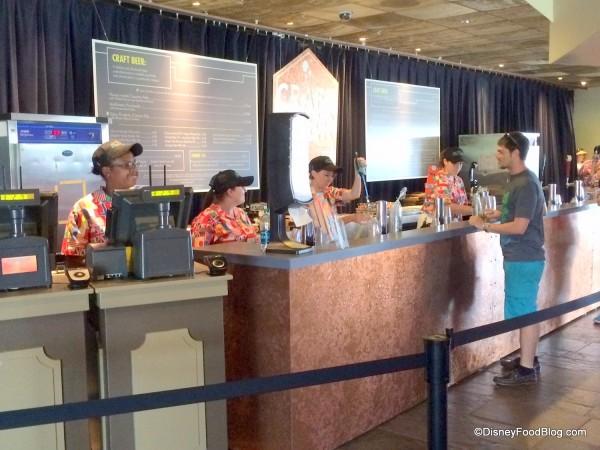 Craft Beer Counter inside Odyssey