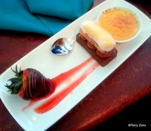 Dessert Platter at Ariel's Grotto