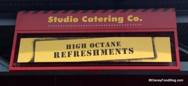 High Octane sign