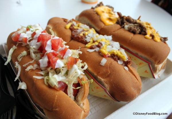 Specialty Hot Dogs from The Lunching Pad in Disney World's Magic Kingdom