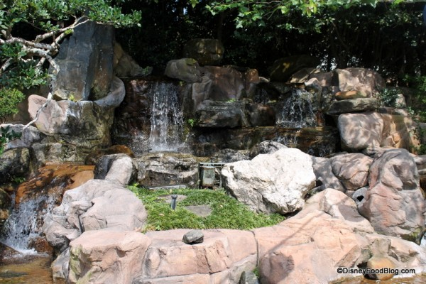 Waterfall in the Japan Pavilion
