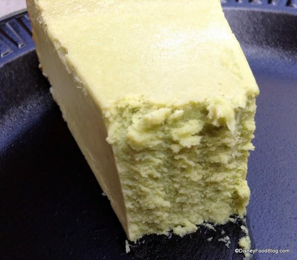 Texture of Green Tea Cheesecake