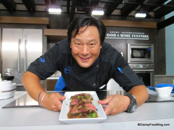 Chef Ming Tsai at Epcot Food and Wine Festival