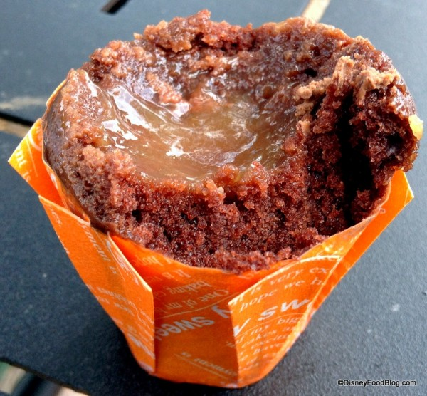 Inside Blood Orange Cupcake