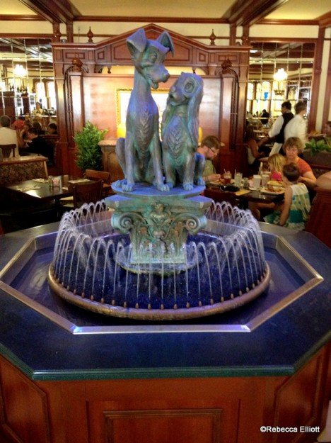This Darling Fountain Sits in the Center of the Dining Room