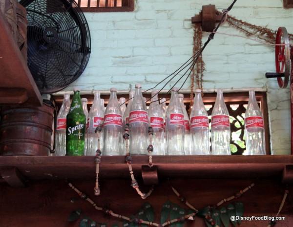 Coke bottles inside Drinkwallah