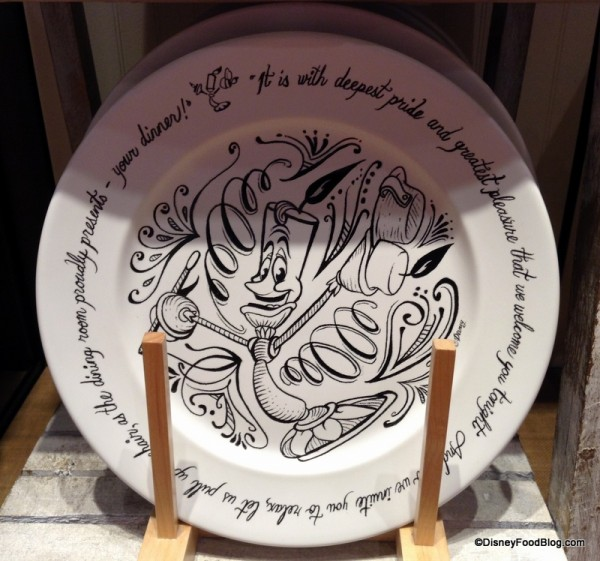 Be Our Guest Dinner Plate