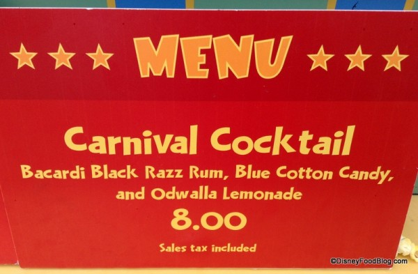 Carnival Cocktail sign